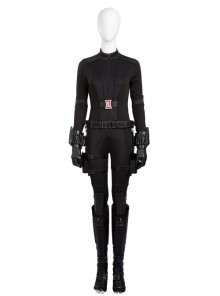 Captain America Civil War Black Widow Cosplay Costume Black Bodysuit Full Set