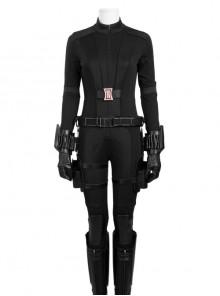 Captain America Civil War Black Widow Cosplay Costume Black Bodysuit