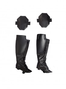 Captain America Civil War Black Widow Cosplay Costume Boot Covers And Knee Pads