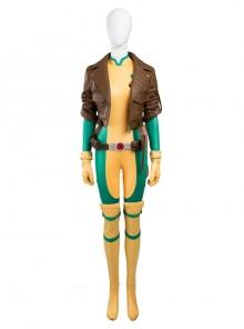 X-Men Rogue Anna Marie Halloween Cosplay Costume Full Set