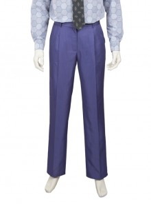 Batman The Dark Knight The Joker Halloween Cosplay Costume Purple Vertical Stripe Suit Trousers