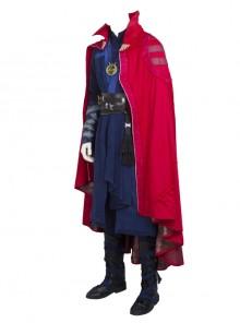 Doctor Strange Stephen Strange Halloween Cosplay Costume Red Stand Collar Printing Cloak