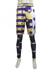 Suicide Squad The Joker Halloween Cosplay Costume Shorts And Leggings