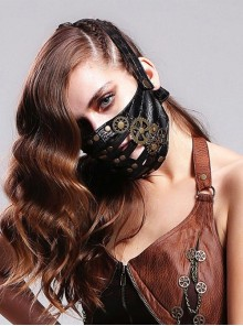 Steampunk Rock Style Gear Rivet Mask