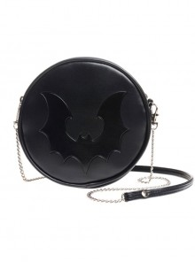 Gothic Punk Retro Black Bat Black Single-shoulder Bag