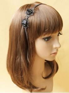 Gothic Black Spider Web Lolita Headband