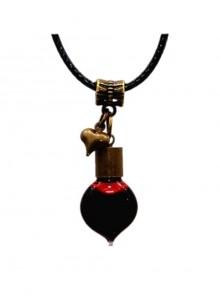 Steampunk Gothic Dracula Vows Retro Edition Vampire Blood Vial Earl's Heart PU Choker