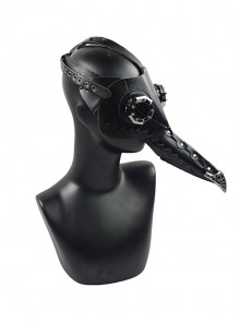 Steampunk Pestilence Black Small Long Beak Doctor Halloween Gothic Party Cosplay Mask