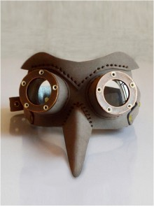 Steampunk Pestilence Beak Army Green Halloween Party Mask
