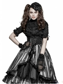 Nobility Black Lace Punk Gothic Lolita Gloves