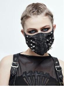 Black Punk Rivet Gothic Mask