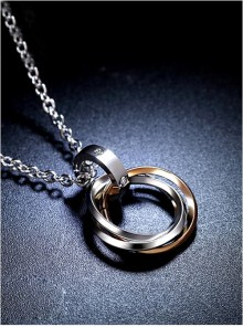 Steam Punk Retro Concise Golden Ring Pendants Women's Necklace