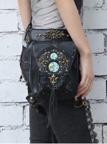Steam Punk Rivet Black Women's Retro Shoulder Bag