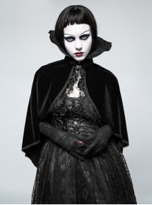 Black Retro Gorgeous Gothic Womens Cloak