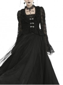 Gothic Classic Victorian Black Lace Outer Clothing