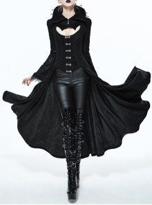 Vampire Shoot Costumes Black Gothic Retro Palace Coat