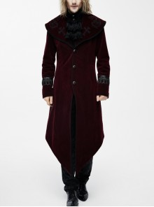 Punk Palace Style Gothic Lapel Dovetail Coat