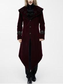 Punk Palace Style Gothic Lapel Dovetail Coat