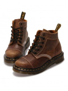 Steampunk Brown Retro Crack Leather Women's Martin Boots