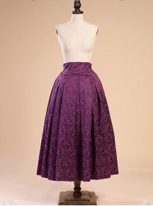 Victorian Retro Jacquard High Waist Big Hem Skirt