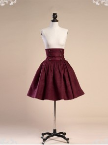 Palace Style Retro Victorian High Girdle Big Hem Skirt