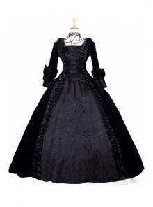 Gothic Victorian Black Velvet Ball Gowns