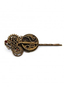 Steampunk Retro Watch Core Gear Key-shaped Hairpin